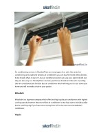 air conditioning services in mumbaithere are many
