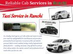 reliable cab services in ranchi