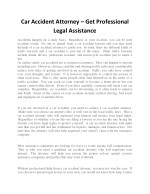 car accident attorney get professional legal