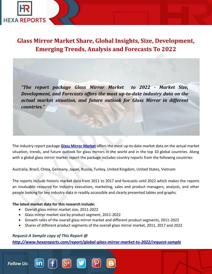 glass mirror market share global insights size n.