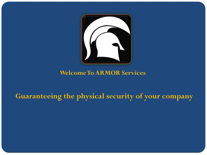 welcome to armor services n.