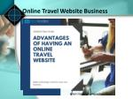 online travel website business