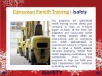 edmonton forklift training isafety