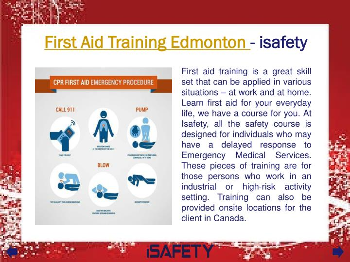 first aid training edmonton isafety n.