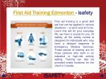 first aid training edmonton isafety