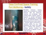 ossa confined space training fort mcmurray isafety