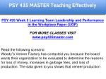 psy 435 master teaching effectively 20