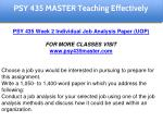 psy 435 master teaching effectively 5