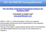 psy 435 master teaching effectively 9