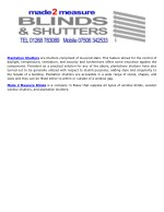 plantation shutters are shutters comprised