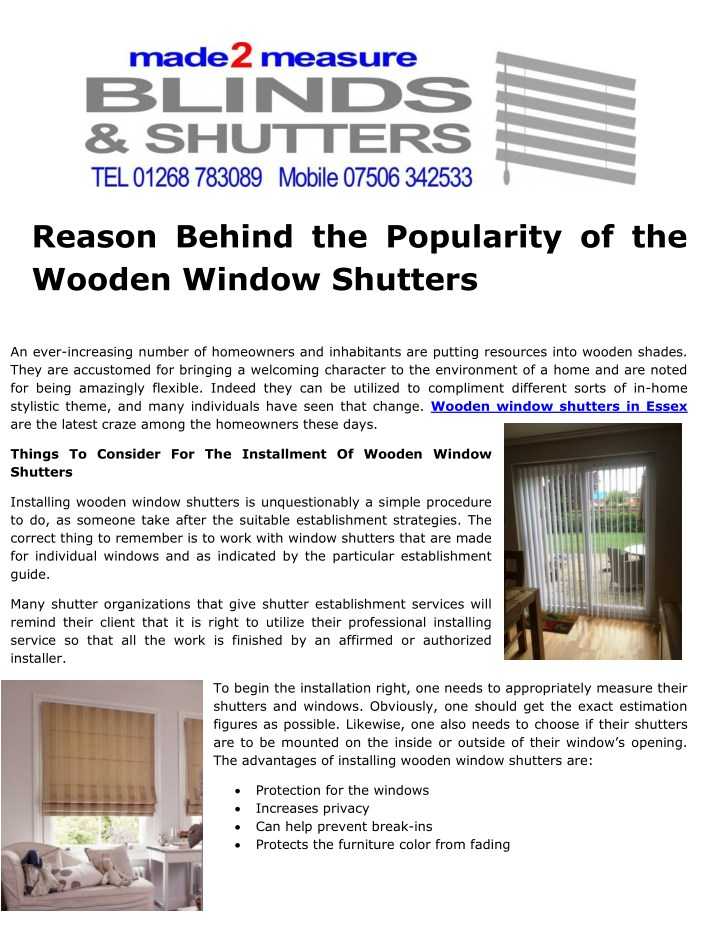 reason behind the popularity of the wooden window n.