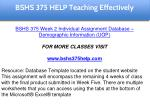bshs 375 help education specialist 3