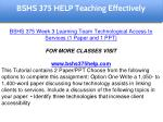 bshs 375 help education specialist 7