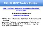 psy 302 study teaching effectively 11
