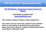 psy 362 study teaching effectively 3