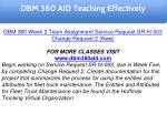 dbm 380 aid education specialist 16