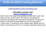 econ 545 genius education specialist 7