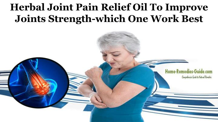 herbal joint pain relief oil to improve joints n.