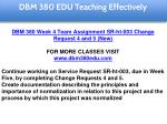 dbm 380 edu teaching effectively 31