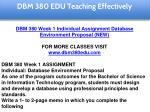 dbm 380 edu teaching effectively 6