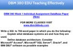 dbm 380 edu teaching effectively 7