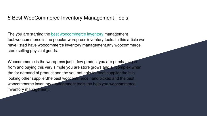 5 best woocommerce inventory management tools n.