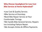 why choose gaadighost for low cost bike service