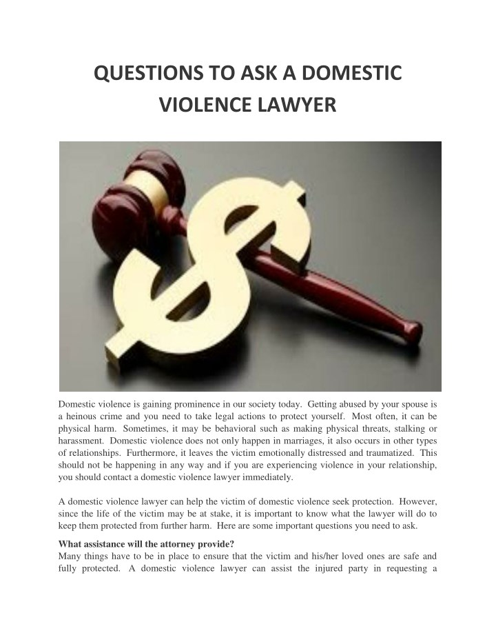 questions to ask a domestic violence lawyer n.