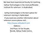 we have best experienced faculty for teaching