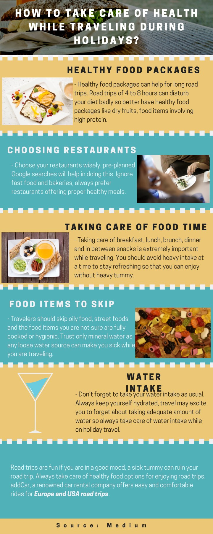how to take care of health while traveling during n.
