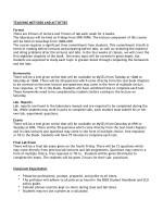 teaching methods and activities