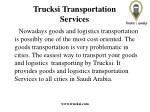 trucksi transportation services