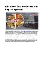pink pearl best resort and fun city in rajasthan