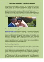 importance of wedding videography in surrey