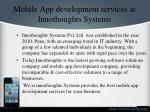 mobile app development services at innothoughts systems