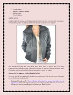 leather jackets woolen or cashmere jackets
