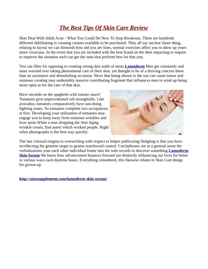 the best tips of skin care review n.