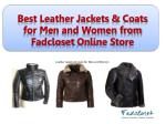 best leather jackets coats for men and women from