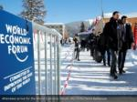 attendees arrive for the world economic forum