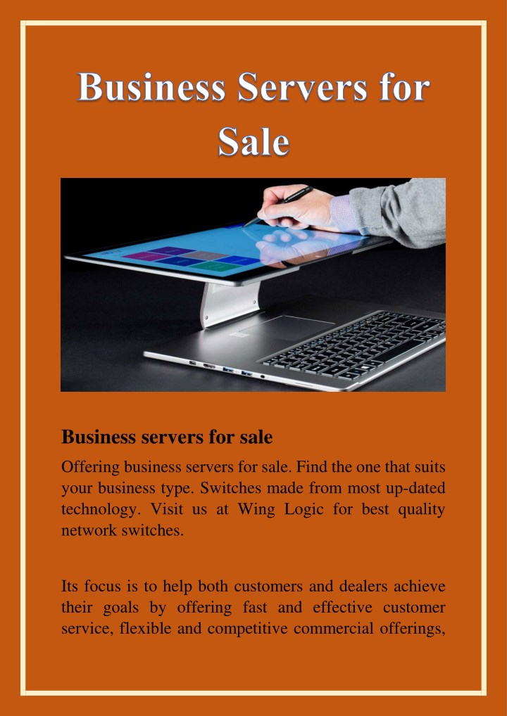 business servers for sale n.