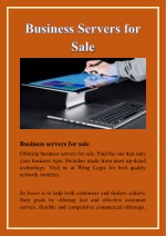 business servers for sale