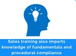 sales training also imparts knowledge