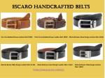 escaro handcrafted belts escaro handcrafted belts