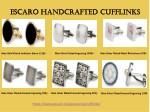 escaro handcrafted cufflinks escaro handcrafted