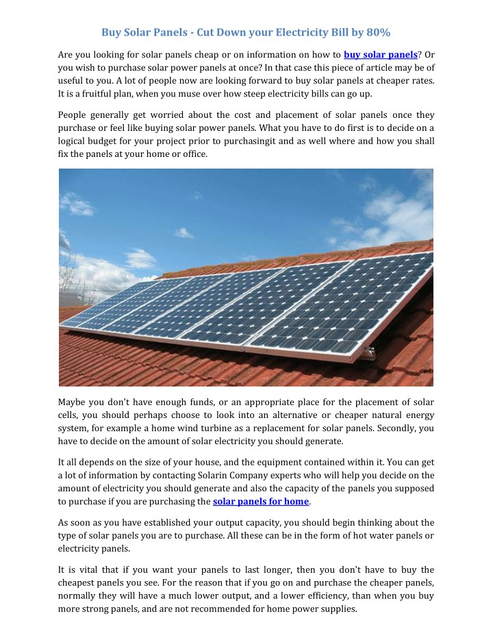 buy solar panels cut down your electricity bill n.