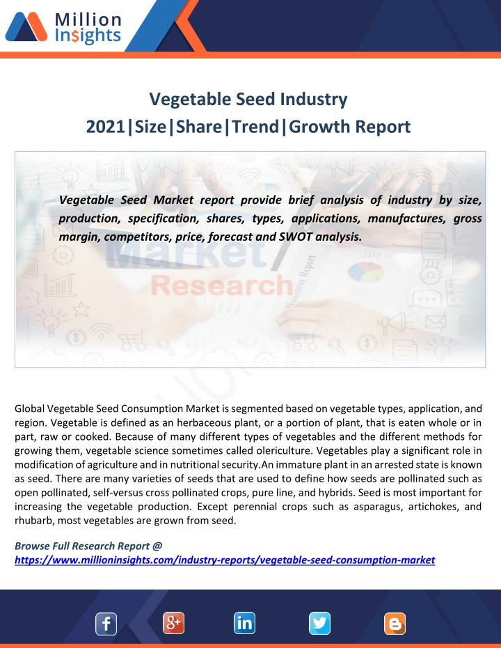 vegetable seed industry 2021 size share trend n.