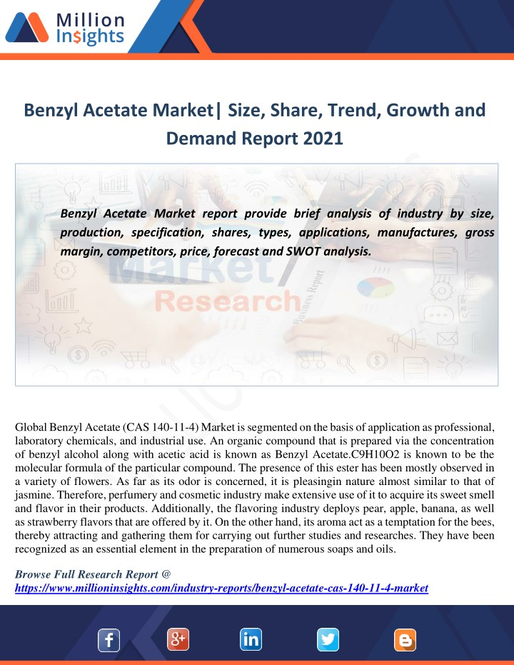 benzyl acetate market size share trend growth n.