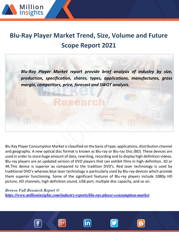 blu ray player market trend size volume n.