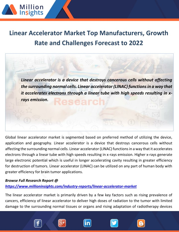 linear accelerator market top manufacturers n.