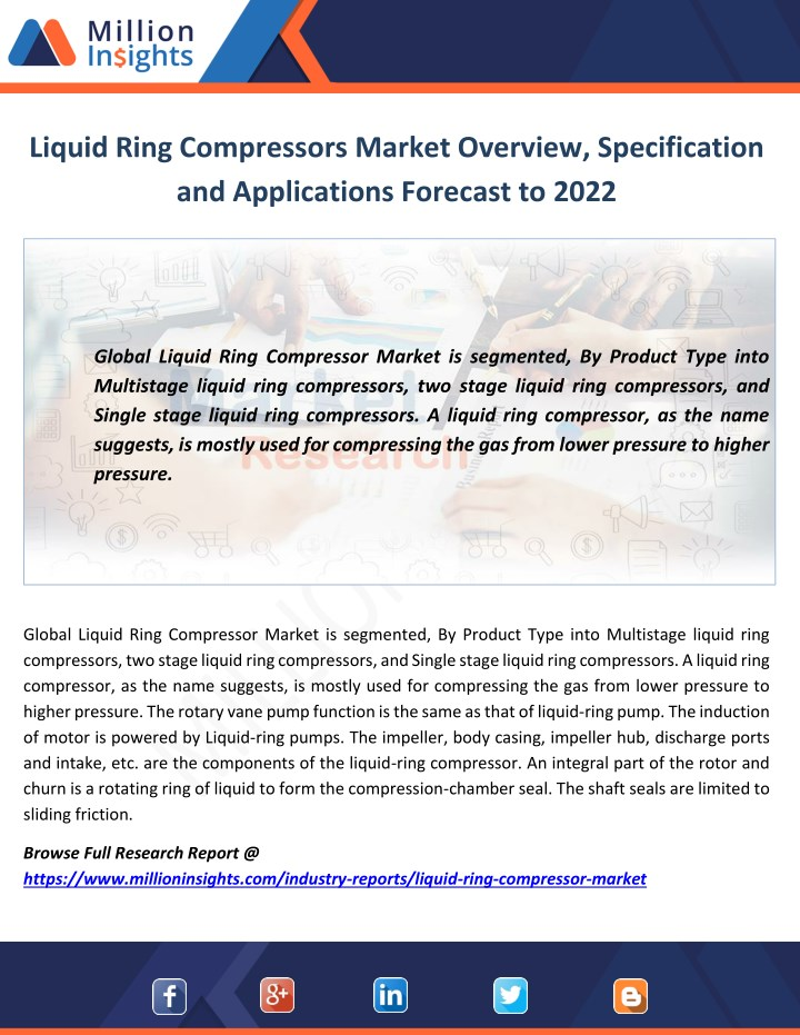 liquid ring compressors market overview n.